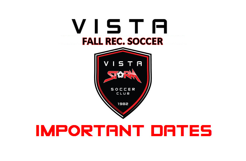 Fall Rec: Important Dates